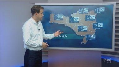 Veja como ficará o tempo em todas as regiões de SC neste domingo (4) - Veja como ficará o tempo em todas as regiões de SC neste domingo (4)