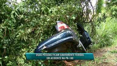 Duas pessoas ficam feridas em acidente no Sudoeste - O acidente foi na PR 180, perto de Francisco Beltrão.
