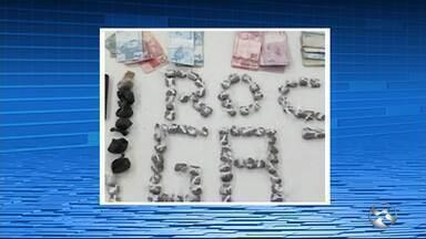 Trio é preso com droga dentro de lata em Santa Cruz do Capibaribe - Suspeitos foram levados à Delegacia de Plantão do município para as medidas cabíveis.