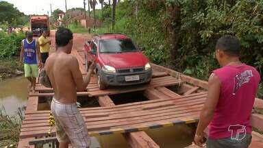 Trafegabilidade de moradores fica prejudica por falta de manutenção em pontes de madeira - Várias pontes em Santarém apresentam problemas estruturais.