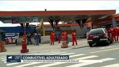 Secretaria Estadual da Fazenda lacra dois postos de combustível em São Paulo - Postos na Estrada do M´Boi Mirim, na zona sul, foram lacrados por vender combustível adulterado e funcionar com documentação irregular.