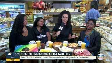 Conheça mulheres com histórias inspiradoras - Bom Dia Rio celebra o dia Internacional da Mulher em uma conversa com três mulheres inspiradoras.