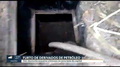Ladrões cavam túnel para roubar derivados de petróleo - Policiais descobrem cano colocado por bandidos, na Zona Leste, para ligar duto até um depósito clandestino