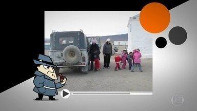Trinta e cinco crianças saem de jipe em vídeo que deixa web desconfiada - Veículo trazia ainda mais três adultos! Detetive Virtual conta a verdade.