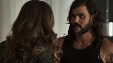 Mariano desabafa com Lívia - Garimpeiro conta que foi enganado pelo irmão