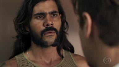Mariano descobre que Johnny não estudou e se revolta contra o irmão - Zé Victor aceita fazer um teste com Johnny no garimpo das esmeraldas