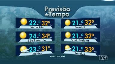 Veja as variações das temperaturas no Maranhão - Previsão do tempo para esta quinta-feira (15) é de muita instabilidade e chuva em grande parte do estado do Maranhão.