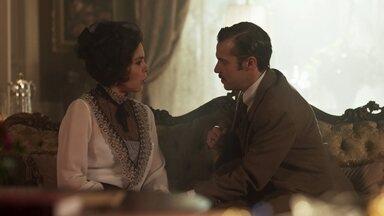 Emília diz a Fernão que algo nele a intriga - Ela diz que pensará em um lugar especial para os dois namorarem