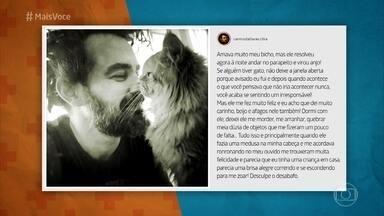 Carmo Dalla Vecchia relembra morte de seu gato, que caiu da janela - Ator relembra personagem na novela 'A Regra do Jogo' e conta que decidiu tornar a história de sua perda pública para evitar que outros animais se acidentem