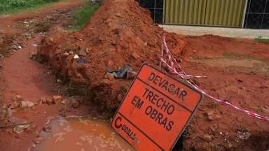 Obra prejudica moradores do Bairro Frei Damião - Departamento não enviou nota sobre o assunto.