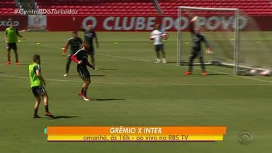 Inter faz treino fechado neste sábado (17) para o Gre-Nal do Gauchão - A RBSTV transmite o jogo ao vivo a partir das 16h.