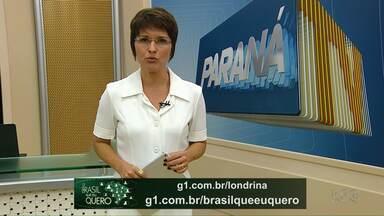 Campanha Brasil que eu quero aguarda a gravação do seu vídeo - Pessoas de vários municípios do Paraná já apareceram nos telejornais da Rede Globo representando a cidade onde moram.