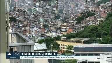 Batalhão de Choque entra em confronto com traficantes na Rocinha - Batalhão de Choque entra em confronto com traficantes na Rocinha.
