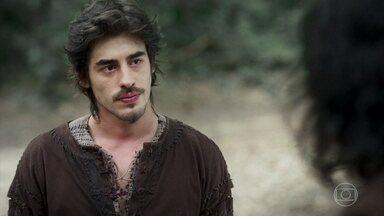 Tiago se aconselha com Afonso - Ele pretende se increver na academia militar de Montemor