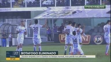 Botafogo-SP é eliminado pelo Santos do Campeonato Paulista - Tricolor de Ribeirão Preto (SP) perdeu nos pênaltis.