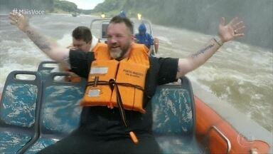Jimmy Ogro faz passeio de barco pelas Cataratas do Iguaçu - Acompanhe a aventura do nosso chef pelo maior conjunto de quedas d´água do mundo!
