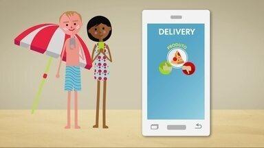 Hoje é dia decomida de praia: o aplicativo - Alexandre Hendersonmostra a tecnologia que leva a comida até você, no conforto da sua cadeira!