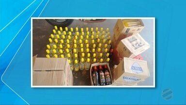 Polícia apreende 37 caixas de bebidas alcoólicas contrabandeadas na MS-162 - As mercadorias estavam em dois veículos e os motoristas disseram que compraram em Pedro Juan Caballero e venderiam em Dourados.