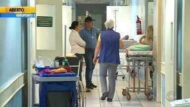 Hospital de Lagoa Vermelha tem prejuízos após temporal neste final de semana - Pacientes ficaram apavorados com a quantidade de água.