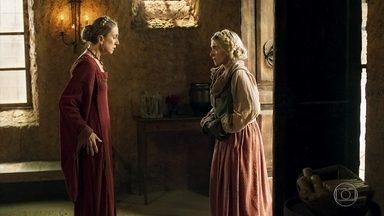 Naná se supreende ao ver sua filha - Glória aparece magra diante da mãe