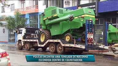Polícia encontra uma tonelada de maconha escondida em colheitadeira - A apreensão foi em Cascavel.