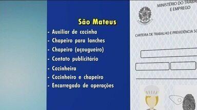 Confira as vagas de emprego no Norte do ES - Veja as oportunidades no Sine de São Mateus.