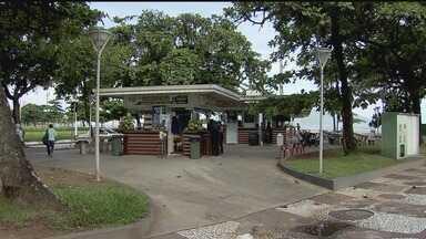 Força-tarefa orienta comerciantes de alimentos na orla em Santos - Preocupação é com a presença de muitos roedores nos jardins da praia.