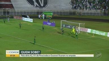 Campeonato Paulista: Guarani e XV de Piracicaba abrem disputa pela semifinal empatados - Apesar de um jogo morno, torcidas do Bugre e Nhô Quim entraram em conflito, no sábado (31).