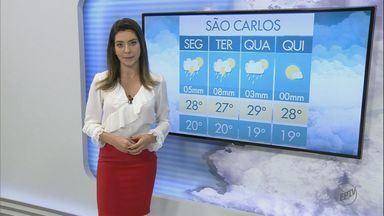 Confira a previsão do tempo de São Carlos e região desta segunda-feira (2) - Confira a previsão do tempo de São Carlos e região desta segunda-feira (2).