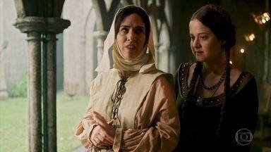 Lucrécia conta a Latrine história de Mirtes com Catarina - Ela insiste em não contar, ams acaba cedendo