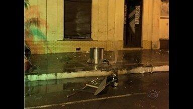 Chimarródromo explode em Jaguari - A instalação foi feita pela prefeitura da cidade.