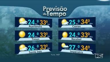 Veja as variações das temperaturas no Maranhão - Previsão do tempo para esta quarta-feira (11) é de dia nublado em grande parte do estado.