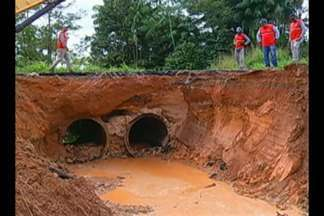 Fortes chuvas na região sudeste do estado têm provocado estragos nas rodovias do Pará - A meteorologia alerta: ainda vem muita água este mês, principalmente no município de Marabá.