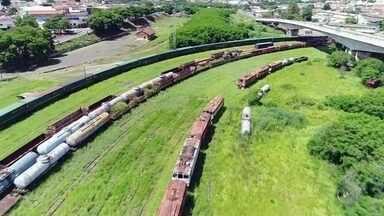 Terceira reportagem sobre ferrovia mostra que a trilhos viraram ponto de tráfico de drogas - Série de reportagens do TEM Notícias mostra a situação de abandono da malha ferroviária em Bauru.