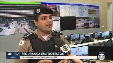 Ato em favor do ex-presidente Lula causa reflexos no trânsito em BH - Centro Integrado de Operações de BH acompanhou manifestação nesta manhã.