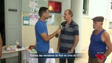 Urna ESTV: moradores pedem melhorias no bairro Paul, em Vila Velha, ES - Bairro Paul tem 7 mil habitantes.