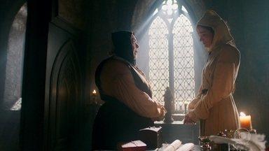 Mirtes conta a Madre Benedita que Lucrécia e Selésio estão fazendo safadeza às escondidas - A Irmã explica a situação e a Madre fica agradecida