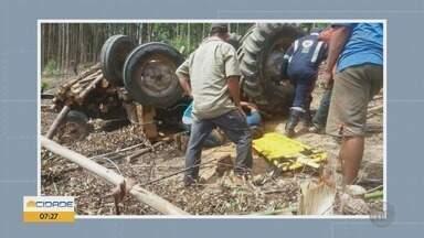 Trabalhador rural fica ferido em acidente com trator na zona rural de Carmo do Rio Claro - Trabalhador rural fica ferido em acidente com trator na zona rural de Carmo do Rio Claro