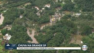 Moradores de Juquitiba sofrem com a chuva - Chuva alagou vários bairros do município que fica às margens da Régis Bittencourt