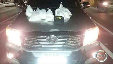 Polícia apreende 10 kg de cocaína na Fernão Dias - Flagrante foi no trecho de Vargem.