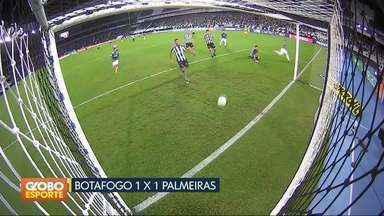 Brasileirão: dois jogos fecham a primeira rodada - Botafogo empata com o Palmeiras e São Paulo vence o Paraná.