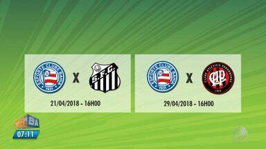 Bahia terá dois jogos em casa para buscar a primeira vitória no Brasileirão - Veja as notícias do tricolor baiano.