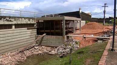Obra no Parque do Forte, em Macapá, troca banheiros desativados por subestação de energia - Previsão da Seinf é que a trabalho seja concluído no segundo semestre de 2018.