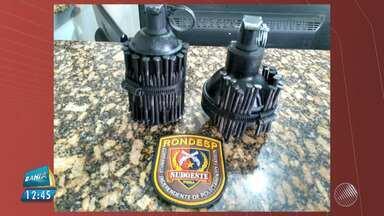 Bandidos tentam jogar granadas em presídio de Vitória da Conquista - O artefato é de uso exclusivo da Polícia Militar. Dois homens foram presos.
