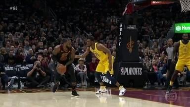 Lebron brilha e o Cleveland empata a série com o Indiana Pacers nos playoffs da NBA - Utah Jazz e Houston Rockets também venceram.