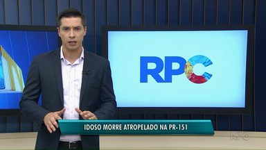 Homem morre depois de ser atropelado na PR-151 - O acidente foi entre Ponta Grossa e Carambeí.