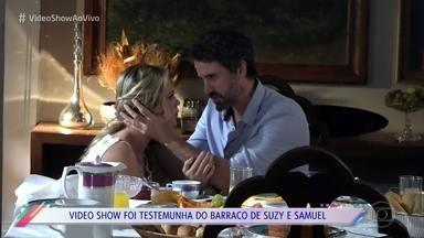 Suzy e Samuel confessam traição - Confira os bastidores de gravação da confusão em 'O Outro Lado do Paraíso'