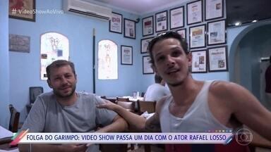 Rafael Losso mostra o que gosta de fazer em seus dias de folga - Ator interpreta o garimpeiro Zé Victor na novela 'O Outro Lado do Paraíso'