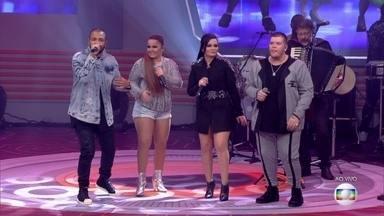 Maiara e Maraísa, Projota e Ferrugem cantam 'Do Seu Lado' - Tiago Leifert apresenta atrações musicais, famílias dos finalistas e o elenco do BBB 18
