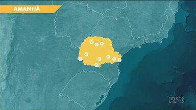 Tempo fica aberto no Paraná - A amplitude térmica é o destaque das cidades do sul e do leste.